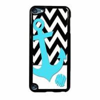 Chevron Anchor Personalized iPod Touch 5th Generation Case
