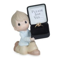 Precious Moments® For The One I Love in Please Say Yes Porcelain Figurine