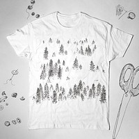 Trees Nature Forest Unisex Shirt Top Tee