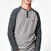 Volcom Proxi Raglan Long Sleeve T-Shirt - Mens Shirt - Black