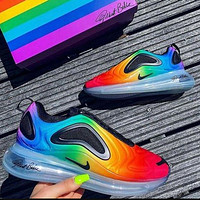 Nike Air Max 720 Hot Sale Women Men Leisure Rainbow Sport Running Shoes Sneakers