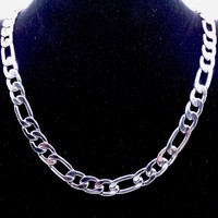 10mm 18'' - 36'' inches Customize Length Mens High Quality Stainless Steel Necklace Figaro Chain Fashion Punk Jewerly