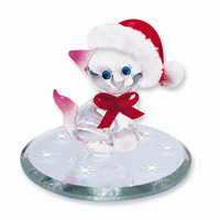 Christmas Kitty Glass Figurine - Perfect Christmas Gift