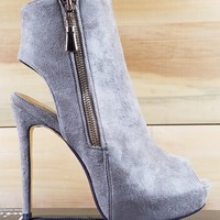 "Luichiny Kay Cee Taupe Ankle Boots - 5"" Heels"