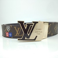 LV 2020 new classic old flower letter buckle belt