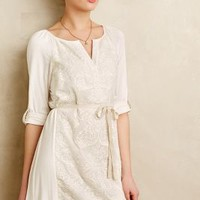 Paperwhites Embroidered Shirtdress