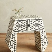 Deco Inlay Nightstand by Anthropologie in Black & White Size: One Size Furniture