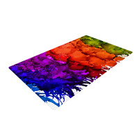 "Claire Day ""Rainbow Splatter"" Woven Area Rug"