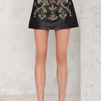 Nasty Gal Jewel of Hard Rocks Mini Skirt
