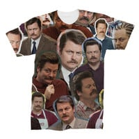 Ron Swanson Collage T-Shirt