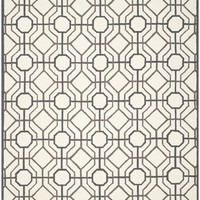 Four Seasons Country & Floral Indoor/Outdoorarea Rug Ivory / Black
