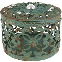 Teal & Brown Iron Box with Jewels | Shop Hobby Lobby