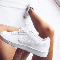 Nike Nike Court Royale Leisure Flat Women Men Casual Sneaker Full White