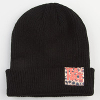 Yea.Nice Cheetah Fold Beanie Black One Size For Men 22516610001