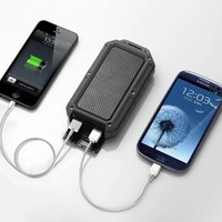 New Trent PowerPak Xtreme - NT120R 12000mAh Water Resistant/Dirt Proof/Shock Proof Rugged Series 3.1A Dual USB Ports External Battery Charger/ Portable Back Up Power Bank/Power Pack Battery/iPhone Charger for iPad 4 /3/2, iPad mini, iPhone 5/4S/4; Samsung