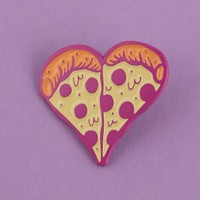 Pizza Heart Enamel Pin