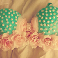 Blue and Pink Rave Bra