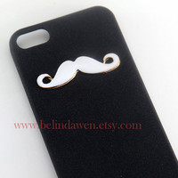 iphone 5 case, mustache iphone 5 case, black Hard Case