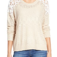 Dex Lace Inset Sweater | Nordstrom