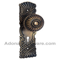 Hannah Brass Door Knob with Plate