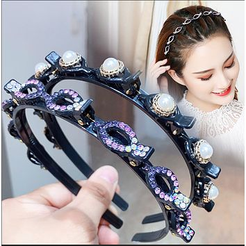 Hot sale headwear, hair styling hairpin, double braided hairband