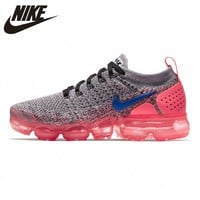 Nike Air VaporMax Flyknit 2 Women's Running Shoes Pink, Non-slip Shock Absorption Breathable Lightweight 942843 104
