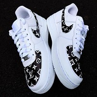 LV Louis Vuitton x NIKE Air force 1 AF1 hot sale men and women low top basketball shoes sneakers-3