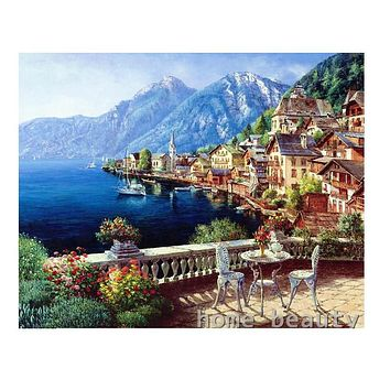 Diy digital oil painting by numbers adult painting calligraphy by number oil paint acrylic decorative canvas picture sea E434