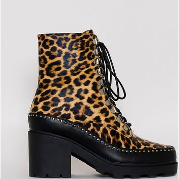 New high heel rivet lace-up booties shoes