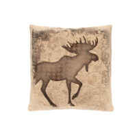 Alpine Woods Moose Pillow, Natural