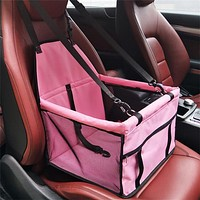 Dog Car Seat -Dog Travel Carrier - Pet Seat -Pet Car Seat - Puppy Car Seat Carrier - Waterproof Pet Car Seat Cover Foldable Travel Car Carrier Bag Single Seat Dog Safety Protector