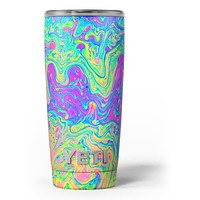 Neon Color Swirls V2 - Skin Decal Vinyl Wrap Kit compatible with the Yeti Rambler Cooler Tumbler Cups