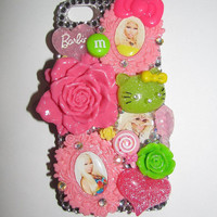 Bling Nicki Minaj Colorful Neon Decoden iPhone 5 phone case Flowers and Candy Bow theme