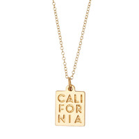 CALIFORNIA Pendant Necklace 14k Yellow Gold
