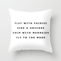 Play With Fairies Throw Pillow With Insert