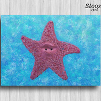 finding nemo sea star nautical art print nursery decor nautical favors