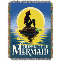 Ariel Little Mermaid Poster Woven Tapestry Throw (48inx60in)