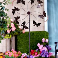 Garden Spinner Stakes Large Huge Jumbo Over 5' Tall Butterfly Hummingbird Dragonfly Metal