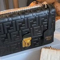 Fendi 2020 new embossed logo chain bag shoulder bag messenger bag