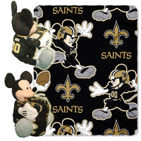 New Orleans Saints NFL Mickey Mouse with Throw Combo