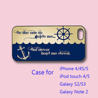 Anchor - iPhone 4 case, iPhone 5 case, ipod touch 4 / 5 case , ipod case, samsung galaxy s3 case , galaxy note 2 case