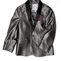 Appaman Boys' Silver Shawl Collar Blazer