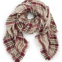 NYC Underground Plaid Square Scarf | Nordstrom