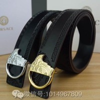 VERSACE Buckle Belt Leather Fashion Contracted Smooth  Belt G-A-GFPDPF