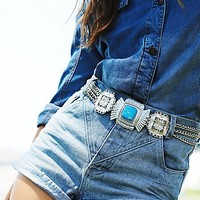 Free People Womens Drifter Stone Belt