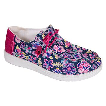 Slip On Shoes - Butterfly Floral - S21 - Simply Southern