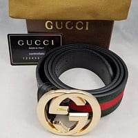 G Belt Men Women Leather Belt