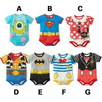 Summer Style Short Sleeve Baby Rompers / Cartoon Baby Boy Clothes / Baby Clothing Girl Costumes