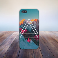 Sunset Over Snow Capped Mountains Case for iPhone 5 iPhone 5S iPhone 4 iPhone 4S and Samsung Galaxy S5 S4 & S3