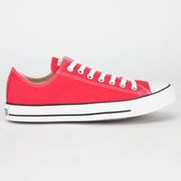 Converse (Red) Chuck Taylor All Star Low Mens Shoes Red  In Sizes